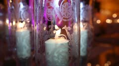 Candle and glass Stock Footage