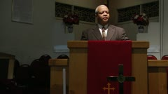 Man at pulpit Stock Footage