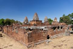 east mebon temple in angkor complex - stock photo