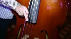 contrabass muzik - stock footage