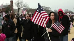 People at 2013 Presidential inauguration Stock Footage