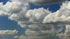 Cumulus path in the sky Stock Footage