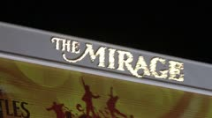 The Mirage Las Vegas Sign Zoom Out Stock Footage