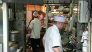 Stock Video Footage of Sushi restaurant, kitchen, Tsukiji fish market, Tokyo, Japan