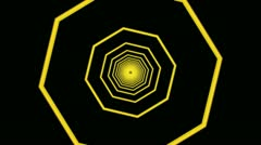 yellow octagon tunnel - stock footage