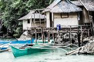 Stock Photo of fishing village in coron the philippines