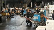 Stock Video Footage of Tsukiji fish market, trader, business, meeting, phone, Tokyo