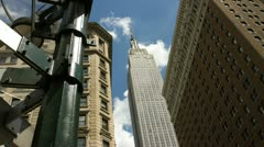 Empire State Building- Time Lapse Slider Stock Footage