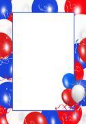 Patriotic balloon frame Stock Photos