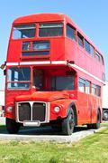 Vanha punainen lontoo kaksikerroksista linja Kuvituskuvat