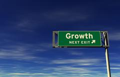 Growth - Freeway Exit Sign Stock Illustration