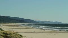 Oregon Coast Beach Scene Stock Footage