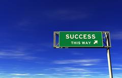 Success - Freeway Exit Sign Stock Illustration
