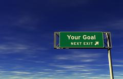 Your Goal - Freeway Exit Sign Stock Illustration
