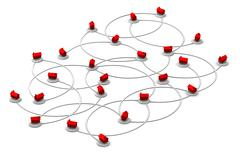 Web Network Of Homes - stock illustration