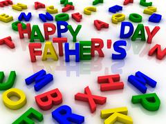 Happy father's day spelled out with colorful letters Stock Illustration