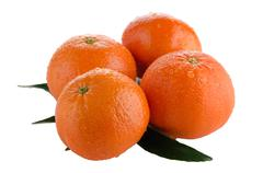 ripe tangerines or mandarin - stock photo
