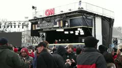CNN News booth at 2013 inauguration Stock Footage