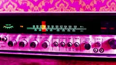 Vintage radio retro wallpaper Stock Footage