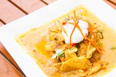 chicken red curry - stock photo