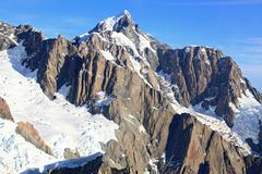 Aerial view of suthern alpine alps Stock Photos