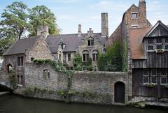 bruges canal, belgium - stock photo