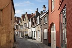 streets of brugge, belgium - stock photo