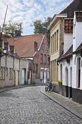 Streets of brugge, belgium Stock Photos