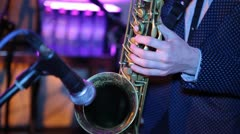 Saxophone 03 Stock Footage