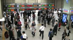 Shinjuku station rush hour, people going home after work, Tokyo, Japan Stock Footage
