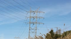 High Power Electical Tower Stock Footage