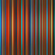 Vibrant colors graduated stripes abstract background. Stock Illustration