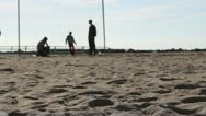 Stock Video Footage of one boy jumping on the beach
