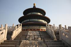 Steps to heaven, Temple of Heaven, China. Stock Photos