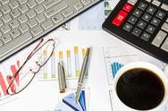 Desk of a businessman Stock Photos