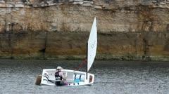Sailing meditation Stock Footage