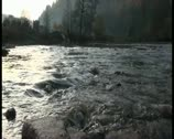 Flow of river water Stock Footage