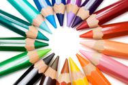 Color Wheel Isolated on a White Background Stock Photos