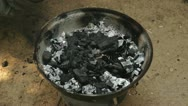 Stock Video Footage of BBQ Charcoal preparation