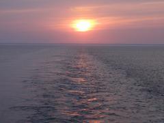 Marine sunset - stock photo