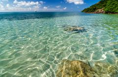 Clear Caribbean Water - stock photo
