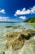 Rocks in Crystal Clear Water Stock Photos