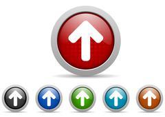 Stock Illustration of arrows icon set