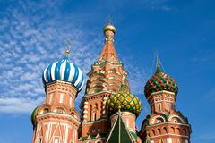 st.Basil cathedral, Moscow, Russia - stock photo