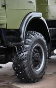 Army truck wheel Stock Photos