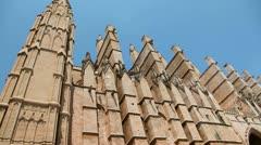 La Seu Cathedral in Palma de Majorca Stock Footage