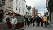 Downtown Canterbury, Kent, UK Stock Footage