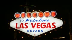 The Welcome to Las Vegas Sign Stock Footage
