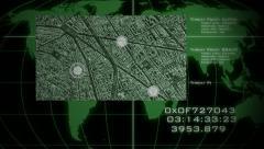 Military Surveillance Screen Stock Footage