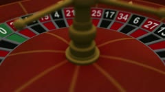 3D Casino Gambling Roulette Stock Footage